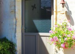 Porte d'entrée mixte PMMA + Arborescia