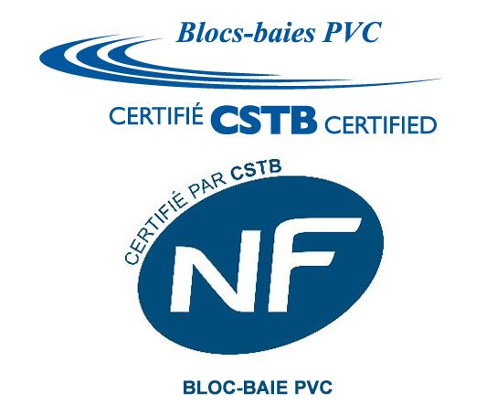 Bloc-baie PVC certifié NF par le CSTB