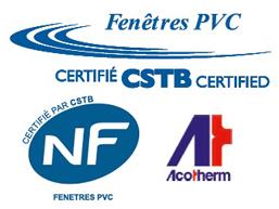 Fenêtre PVC certifiée NF par le CSTB