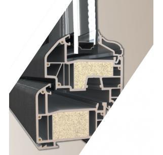 Fenêtre mixte avec mousse isolante