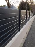 Clôture PVC brise-vue gris anthracite