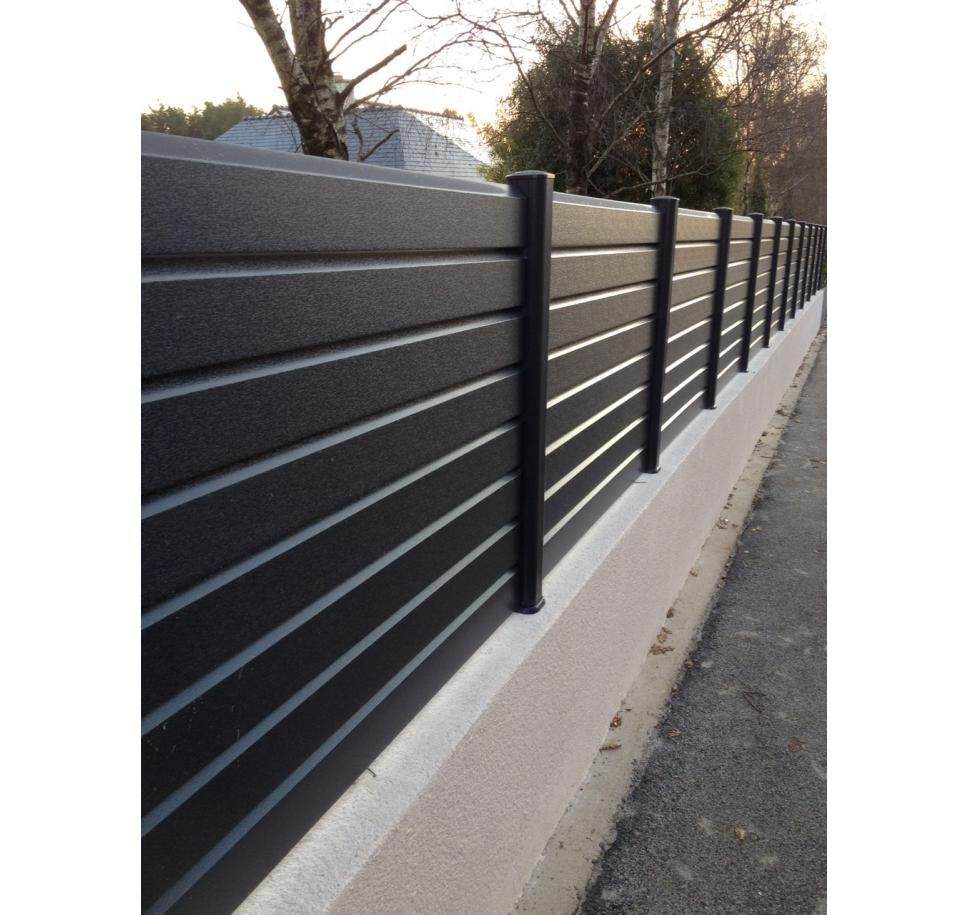Fabricant de cl ture pvc ileo g martin for Barriere mur de cloture